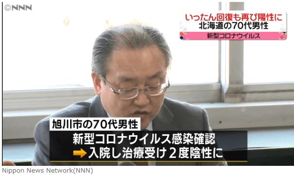【3/28(土)】新型コロナウイルス陰性で退院の男性、再び陽性に【北海道】
